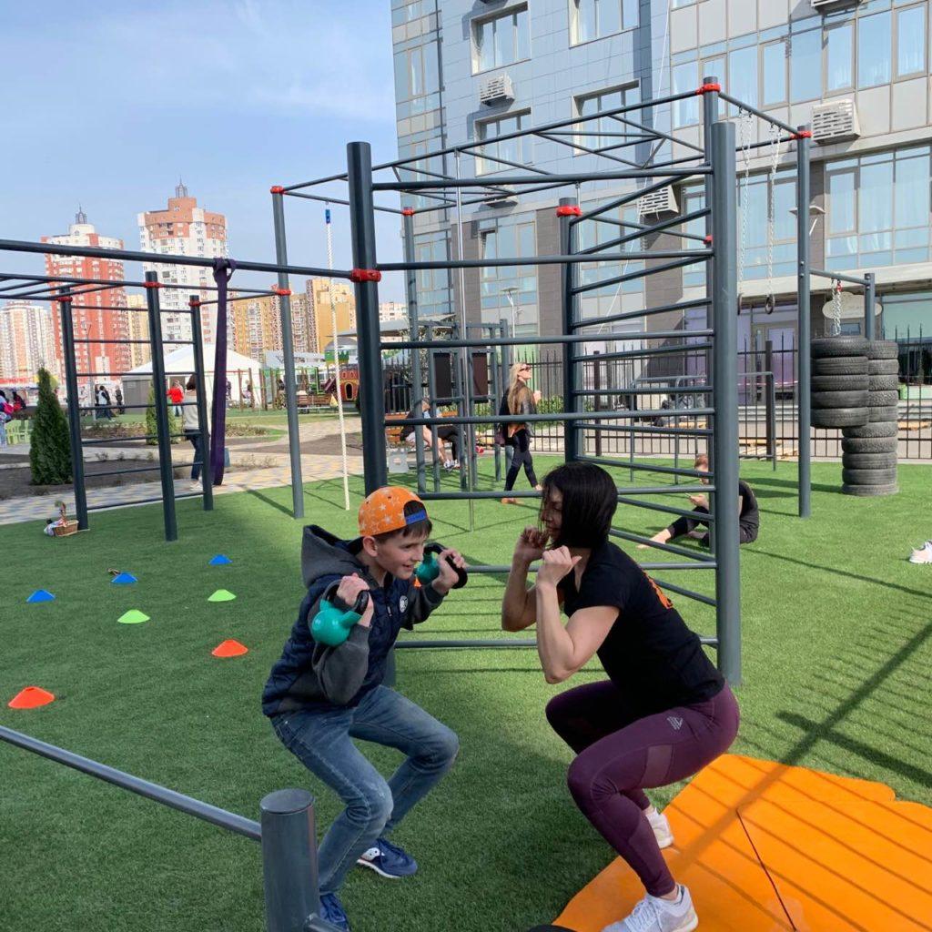DOG & Grand CrossFit на открытии детской площадки в ЖК River Stone, DOG & Grand CrossFit
